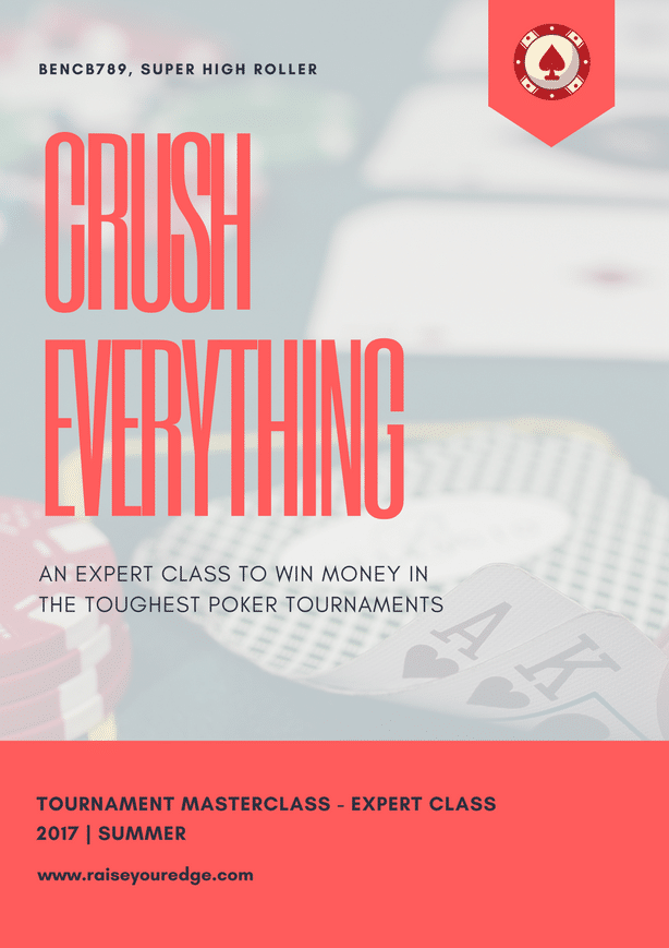 Crush everything in poker tournaments with Raise Your Edge