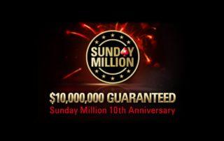 Sunday Million 10,000,000 Guaranteeed